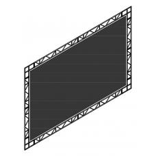 Рамный экран на люверсах