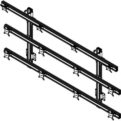 Allegri Крепление настенное для 12 мониторов 4х3