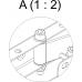 Настенное 2-х коленное крепление 400х400
