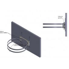 Кронштейн обжимной для телевизора на колонну или столб