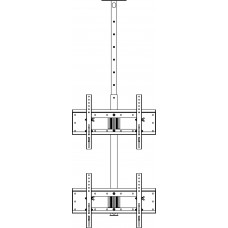 Allegri Кронштейн потолочный для двух тв друг под другом 1800