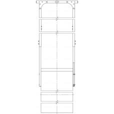 """Потолочное крепление универсальное для двухсторонней ЖК-панели 46-55"""""""