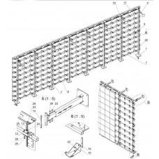 Каркас напольно-настенный для светодиодной видеостены 4320х10560 мм