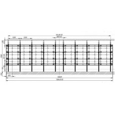 Каркас распорный для светодиодной видеостены 18х6, Unilumin Mini 0.9-SS