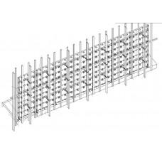 Каркас напольно-настенный для светодиодной видеостены U2.5 (480х480), 10.08х3.84 м