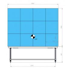Напольный мобильный моторизированный каркас для светодиодного экрана 4x3 640x640