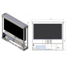 Моторизированный выдвижной лифт - бокс для ЖК монитора 20-27