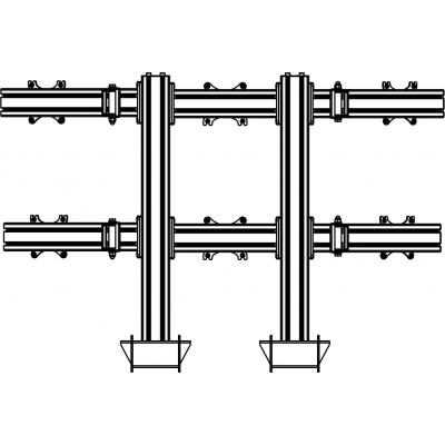 Настольный кронштейн для 6 мониторов на струбцине ALG 620W