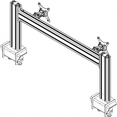 Allegri Настольная подставка для 2-х мониторов на струбцинах