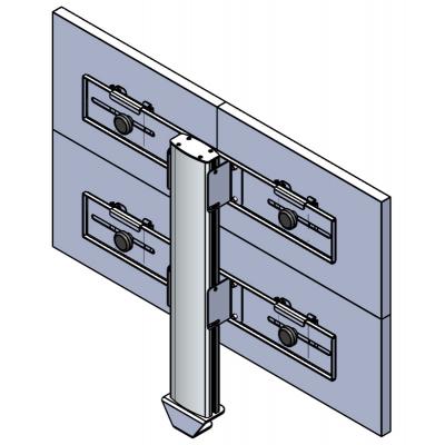 Настольная видеостена 2х2 под мониторы на струбцине