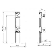 Кронштейн для 2-х мониторов ALG M21