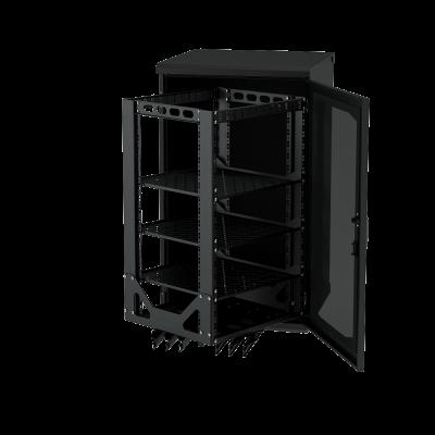 Напольный выкатной, поворотный телекоммуникационный rack-шкаф ALG RACK F-TZ 1