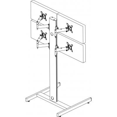 Allegri Стойка напольная 2х2 для мониторов