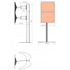 Allegri Техно-С для двух мониторов с отдельными кронштейнами