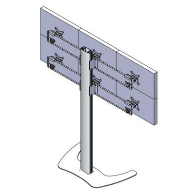 Напольная мониторная видеостена 3х2 (алюминиевый профиль)