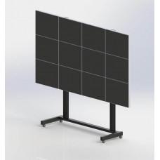 Напольная мониторная видеостена 4х3 на колесах для мониторов NEC Multisync EA271Q-BK