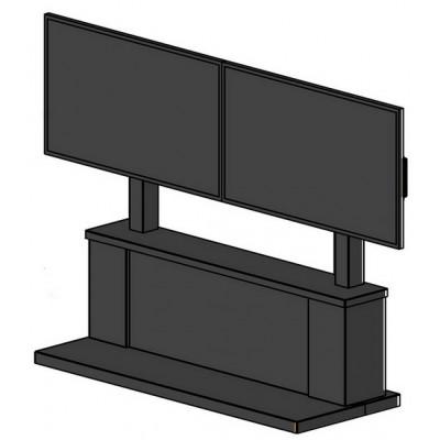 Стойка для двух мониторов NEC MultiSync V552 с RACK-шкафом (съемная панель на магнитах)