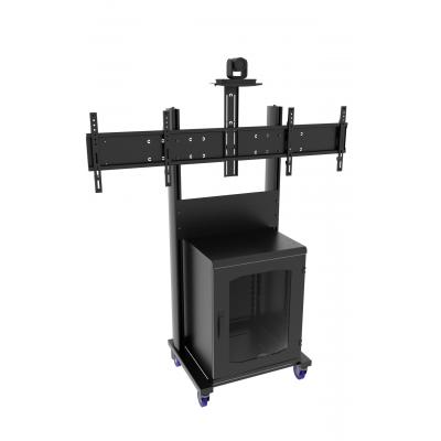 Напольная стойка для ВКС на два монитора ALG VCS F6