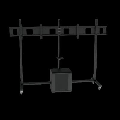 Напольная стойка для ВКС c RACK шкафом на два монитора ALG VCS F13