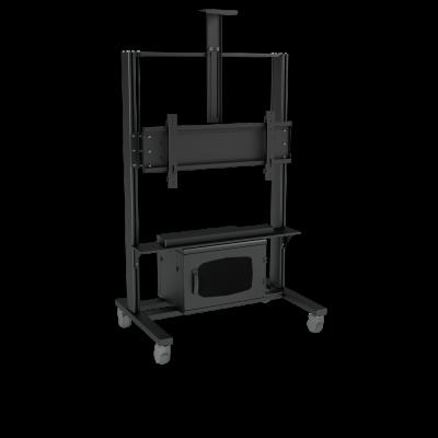 Напольная стойка для ВКС c RACK шкафом на один монитор ALG VCS F14