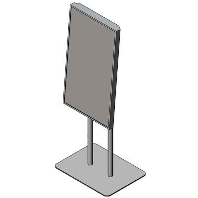 Напольная стойка для информационной панели (портретная ориентация)