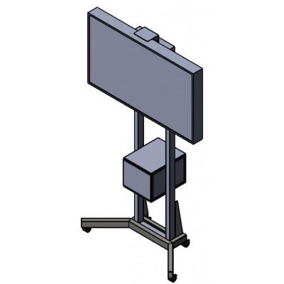 Напольная стойка под видеоконференцсвязь с Rack-стойкой
