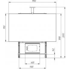 Allegri Стойка Техно С-13 с наклоном, с Rack-шкафом 6U