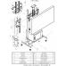 Allegri Cтойка Техно 70-84 усиленная, с Rack-шкафом 9U
