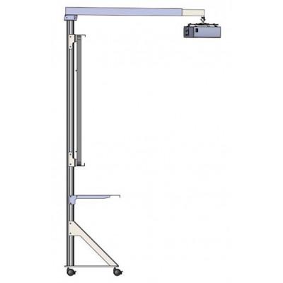 Мобильная стойка для интерактивной доски с полкой под ультракороткофокусный проектор