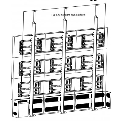 Каркас напольно-настенный 3х3 с декоративным кожухом