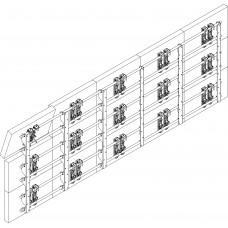 Настенный каркас для видеостены 5х3 на базе кронштейнов  откидного типа