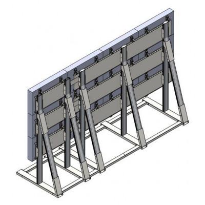 Напольная видеостена 4х3 под Delta из модулей 1х3 и 3х3