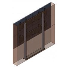 Напольно-настенная видеостена 2х2 под Samsung ME55C с декоративным кожухом