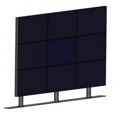 Напольно-настенная видеостена 3х3 под LG 55WV70 с кронштейном откидного типа