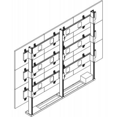 Напольно-настенная видеостена 3х3 под Samsung UE55C (ультратонкий кронштейн)