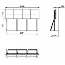 Напольное мобильное крепление для видеостены 4х2 для панелей Samsung 460UT-2