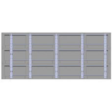 """Настенная видеостена 4х3 под панель 46"""" с кронштейном откидного типа"""