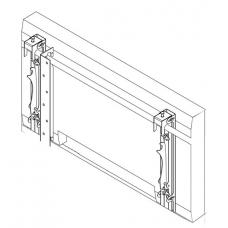 Настенная видеостена 3х3 под LG 47WV30 на колонну откидного типа