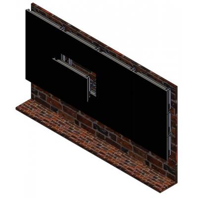 """Настенная видеостена 4x3 с кронштейном полного выдвижения под Samsung 46"""" 460UT-B"""
