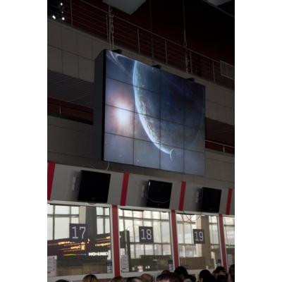 Потолочная видеостена 4х4 под Nec X462UN с декоративным кожухом
