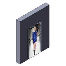 Распорная видеостена 4x5 под Sharp PN-V601 в витрину (портретная ориентация)