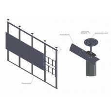 Распорная видеостена 4х2 откидного типа