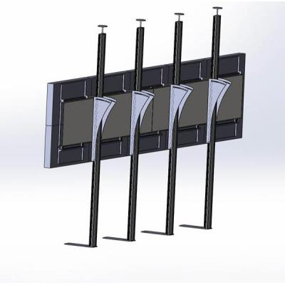 Распорная видеостена 5х2 под Samsung UD46A с наклоном